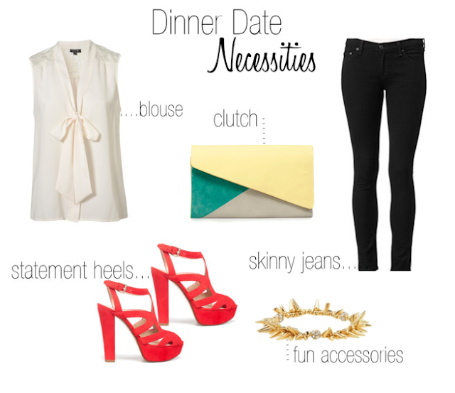 Dinner Date Night Necessities by Carly Haslee