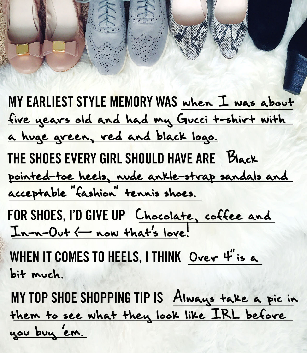 marie claire, pursuit of shoes, shoe shopping tip