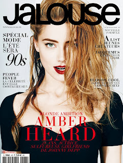 Magazine cover : Amber Heard Magazine Photoshoot Pics on Alexei Hay Jalouse Magazine France February 2014 Issue