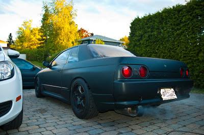 Matte Black Nissan Skyline