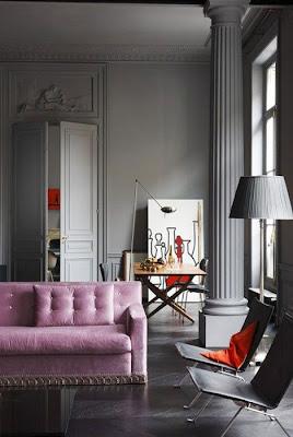 De andar por casas gama de grises para tus paredes for Cortinas para paredes grises