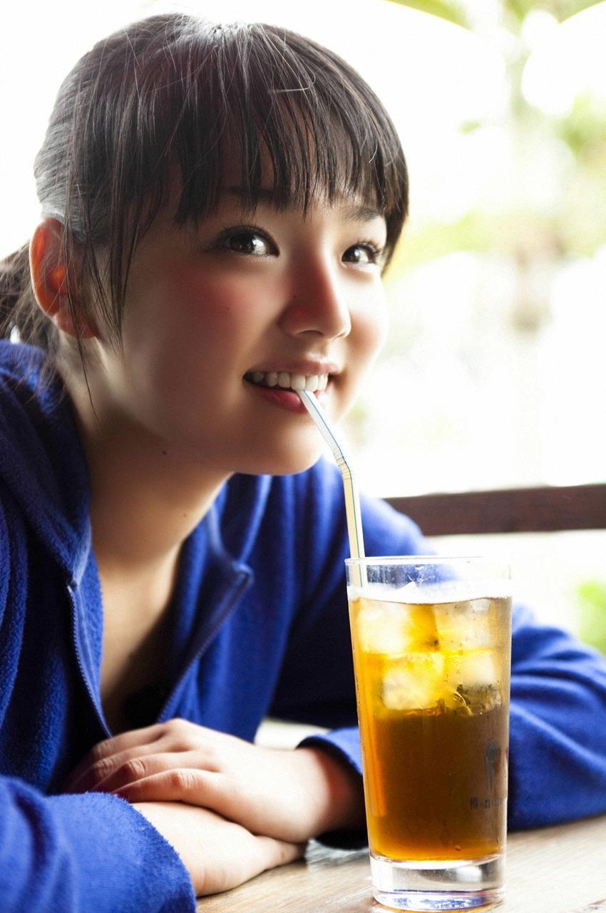 Permalink to Ai Shinozaki Blue Shirt Eating Noodle