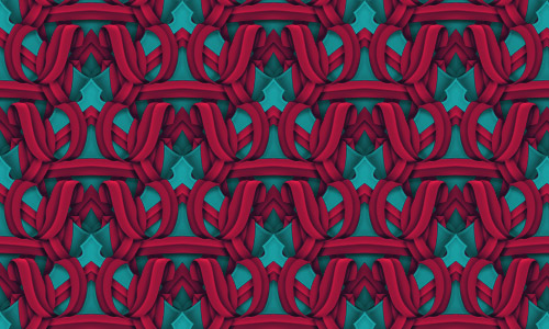 Intertwined Red Pattern