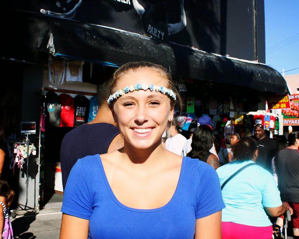boho blue girl