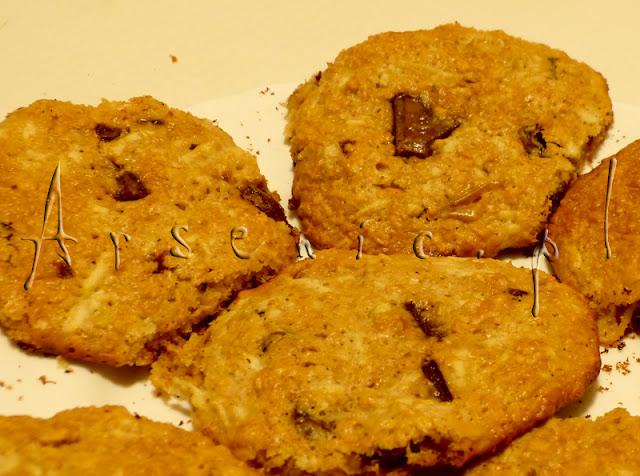 Arsenic w kuchni: owsiano-pijane ciastka z czekoladą