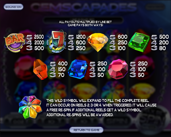 Gemscapades Slot Machine - Read the Review and Play for Free