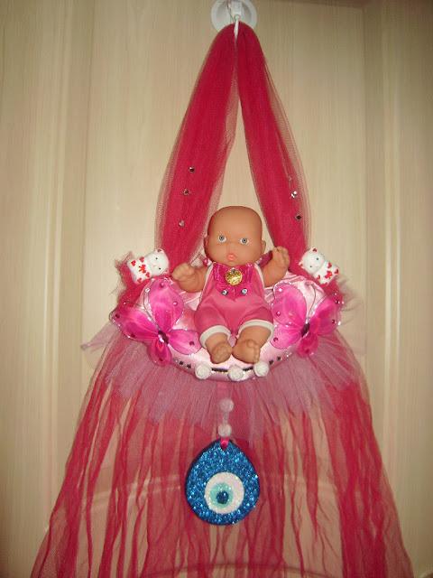 kız bebek için kapı süsü