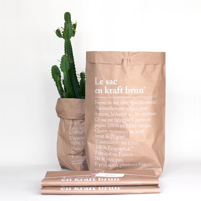 le sac en papier, brun förvaringspåse, förvaring, frankrike, paris, för växter, växt, blompåse, påse för blommor, påsar för växter, kaktus, webbutik, webbutiker, annelies design