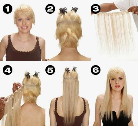 Extension de cheveux sur coupe courte