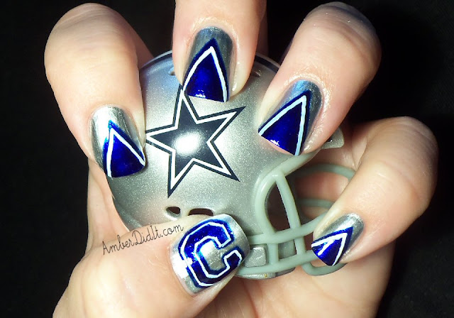 Amber did it!: NFL Nail Art Series #2 ~ Dallas Cowboys Nails