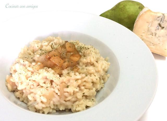 Cocinar con amigos risotto de pera y gorgonzola for Como cocinar risotto