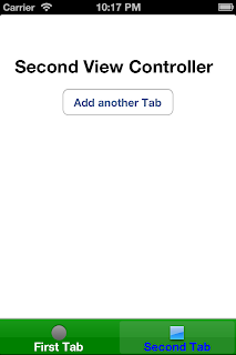 iOS UITabBarController Second Tab