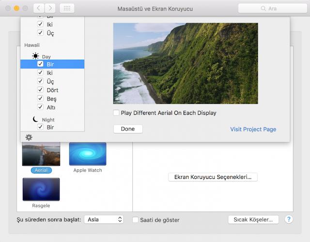 Apple TV Ekran Koruyucusu Mac'te