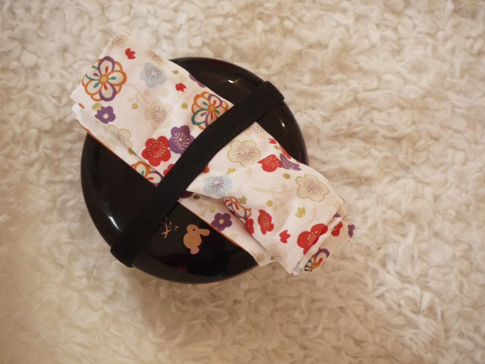 etui à couverts tissu japonais