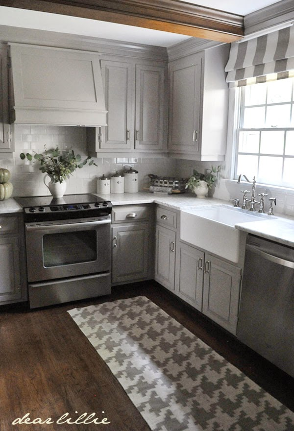 Dear lillie darker gray cabinets and our marble review for Grey floor black cabinets