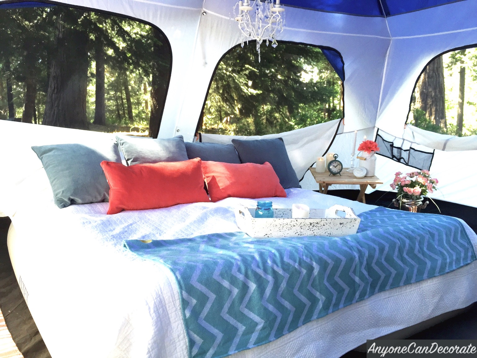& Anyone Can Decorate: Gone Glamping - A DIY Glamorous Camping Trip