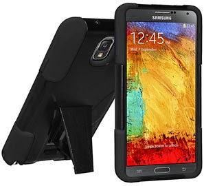 Amzer Double Layer Hybrid Case with Kickstand for Samsung Galaxy Note 3