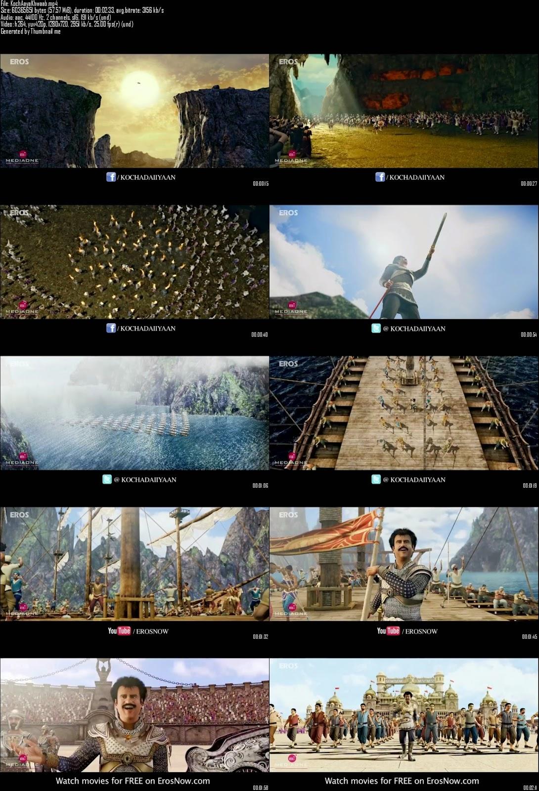 Mediafire Resumable Download Link For Video Song Aaya Khwab Ka Mausam - Kochadaiiyaan (2014)