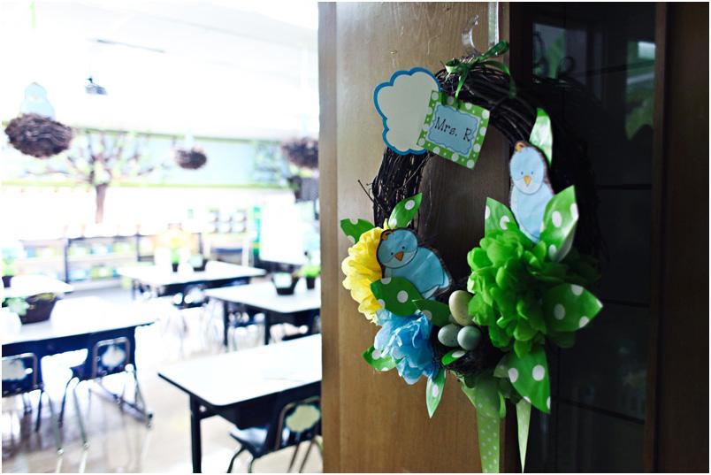 Michaels Classroom Decor ~ Sweet kindergarten summer bucket list classroom wreath
