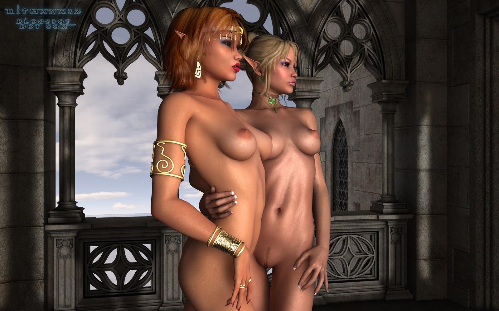 Эльфийка из эротическая игра, Сексуальная эльфийка ебется с орком из игры Warcraft 2 фотография