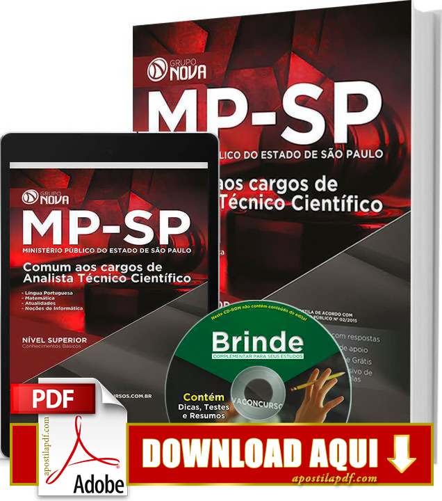 Apostila MP SP 2015 Analista Técnico Científico Impressa PDF Grátis Download