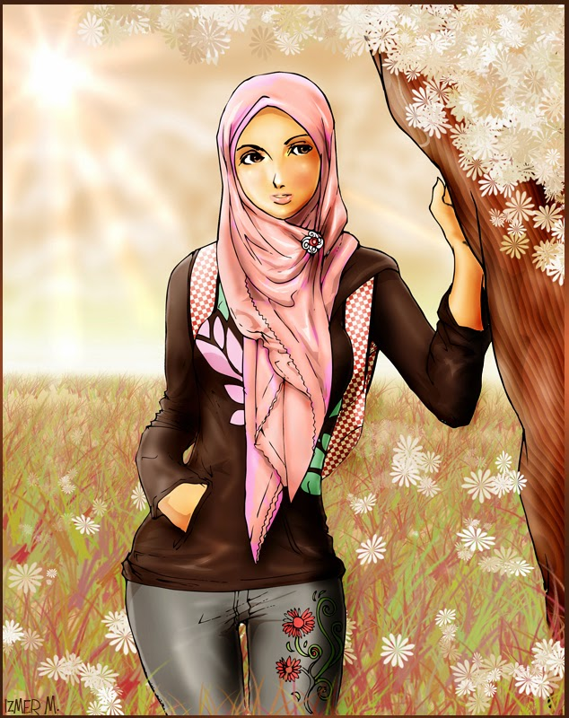 Muslim Girl in Spring Art
