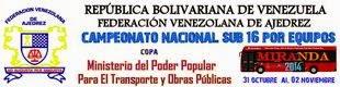 PRÓXIMOS EVENTOS CAMPEONATO NACIONAL POR EQUIPOS SUB 16