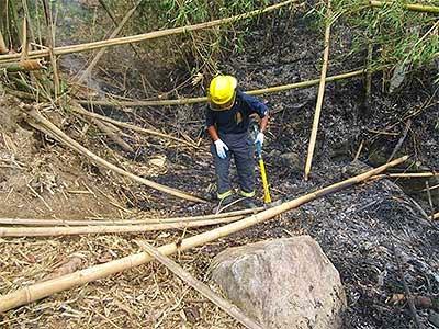 Bushfire in Buhi, Camarines Sur