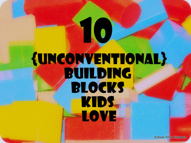 TEN {Unconventional} Building Block ideas your kids (of all ages) will