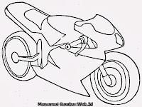 Gambar Motor Ninja Sport Untuk Diwarnai