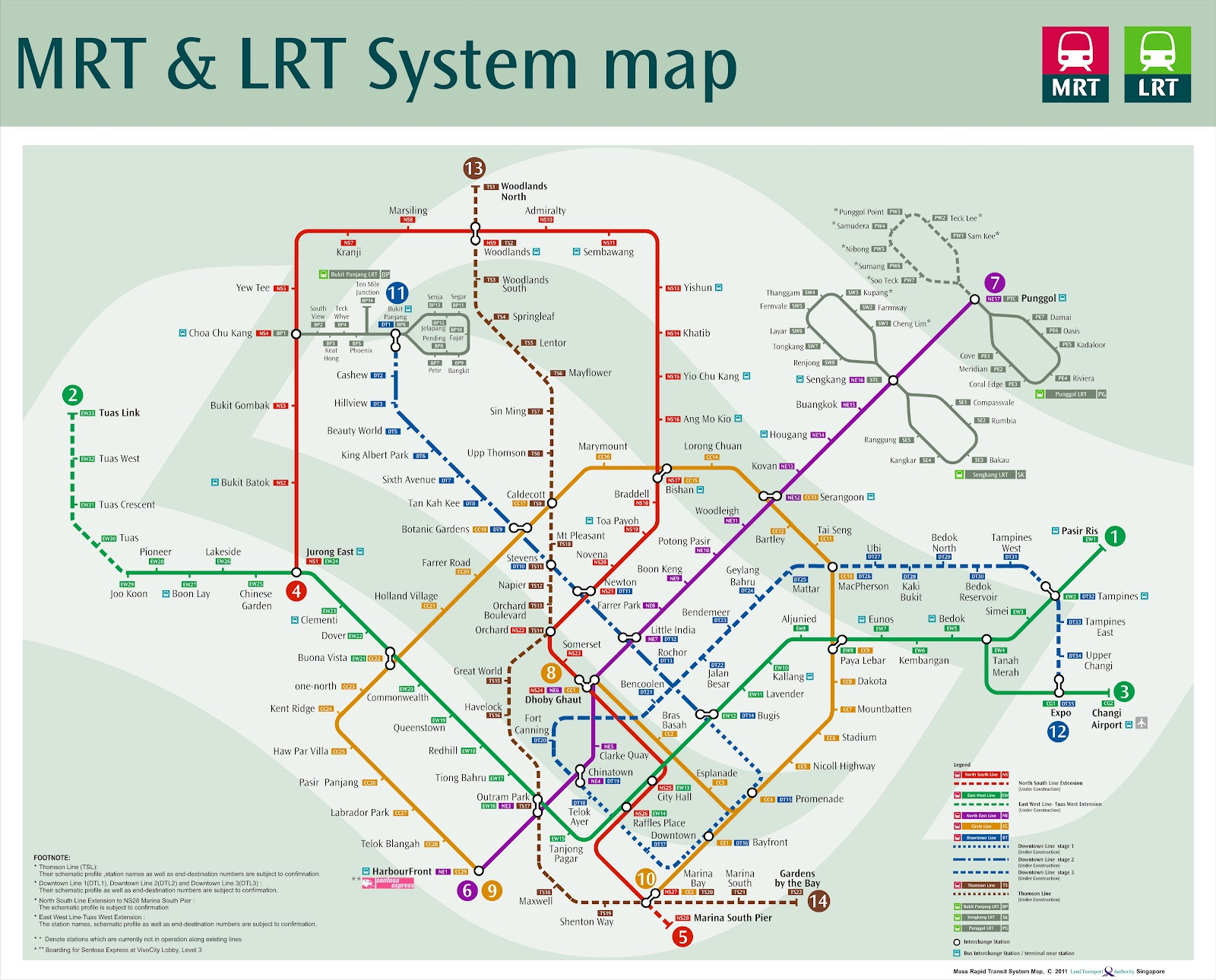... Line, Tuas West Extension, North South Line Extension, and Thomson