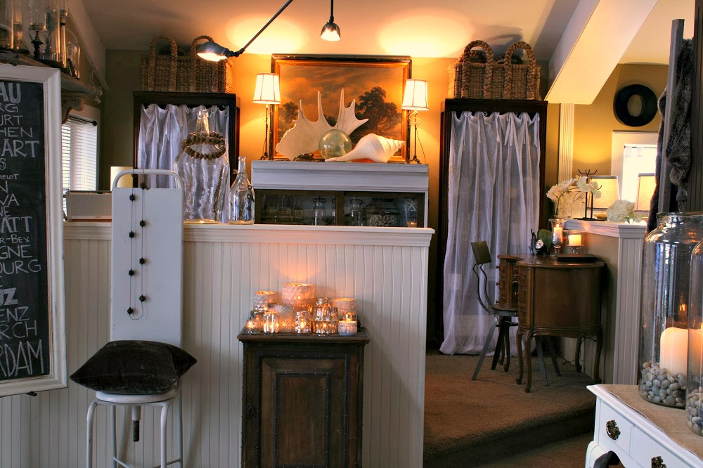 Pottery Barn, Mercury Glass Candle Holders, Beachcomber