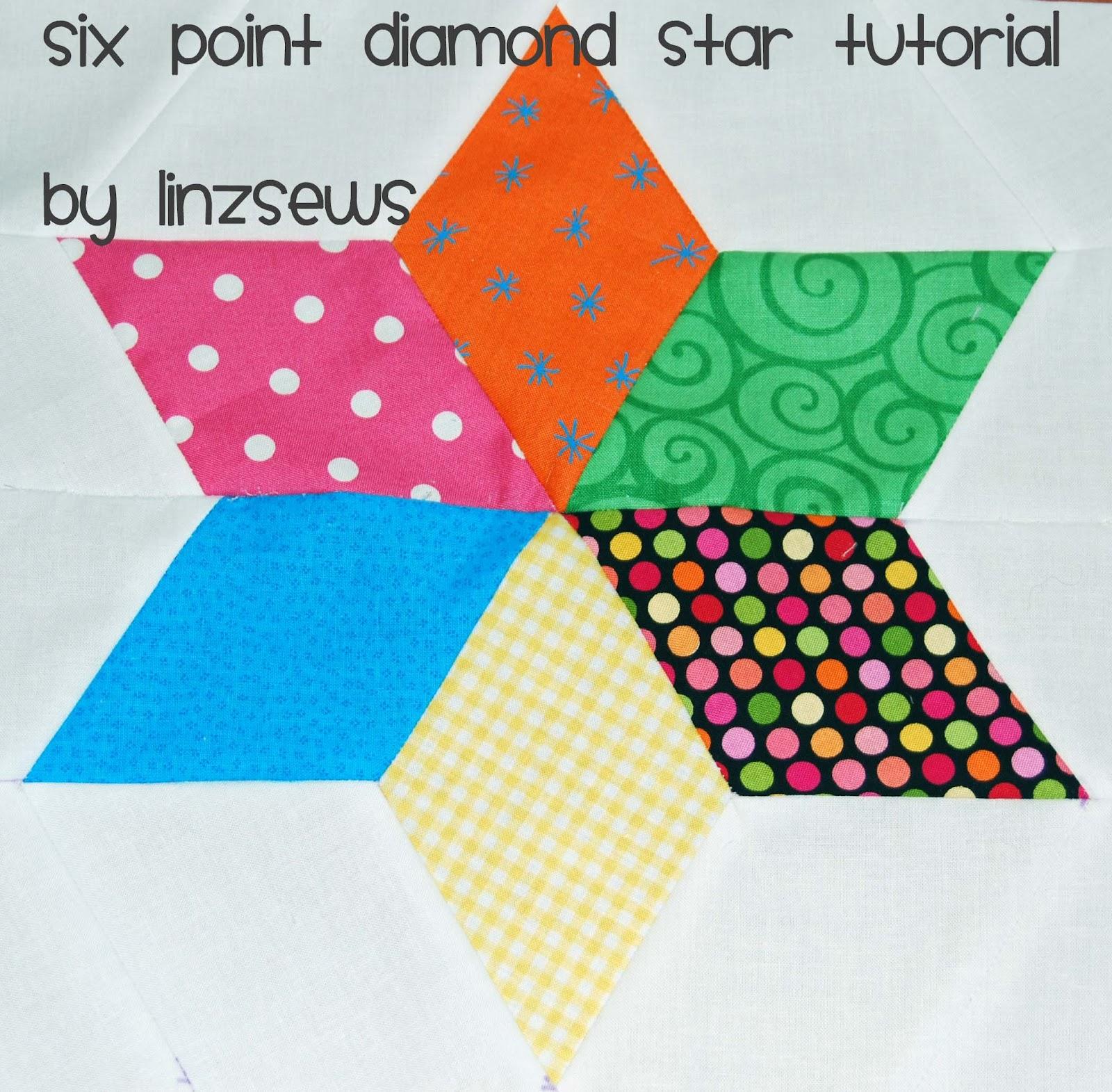 Linz Sews Six Point Diamond Star Tutorial