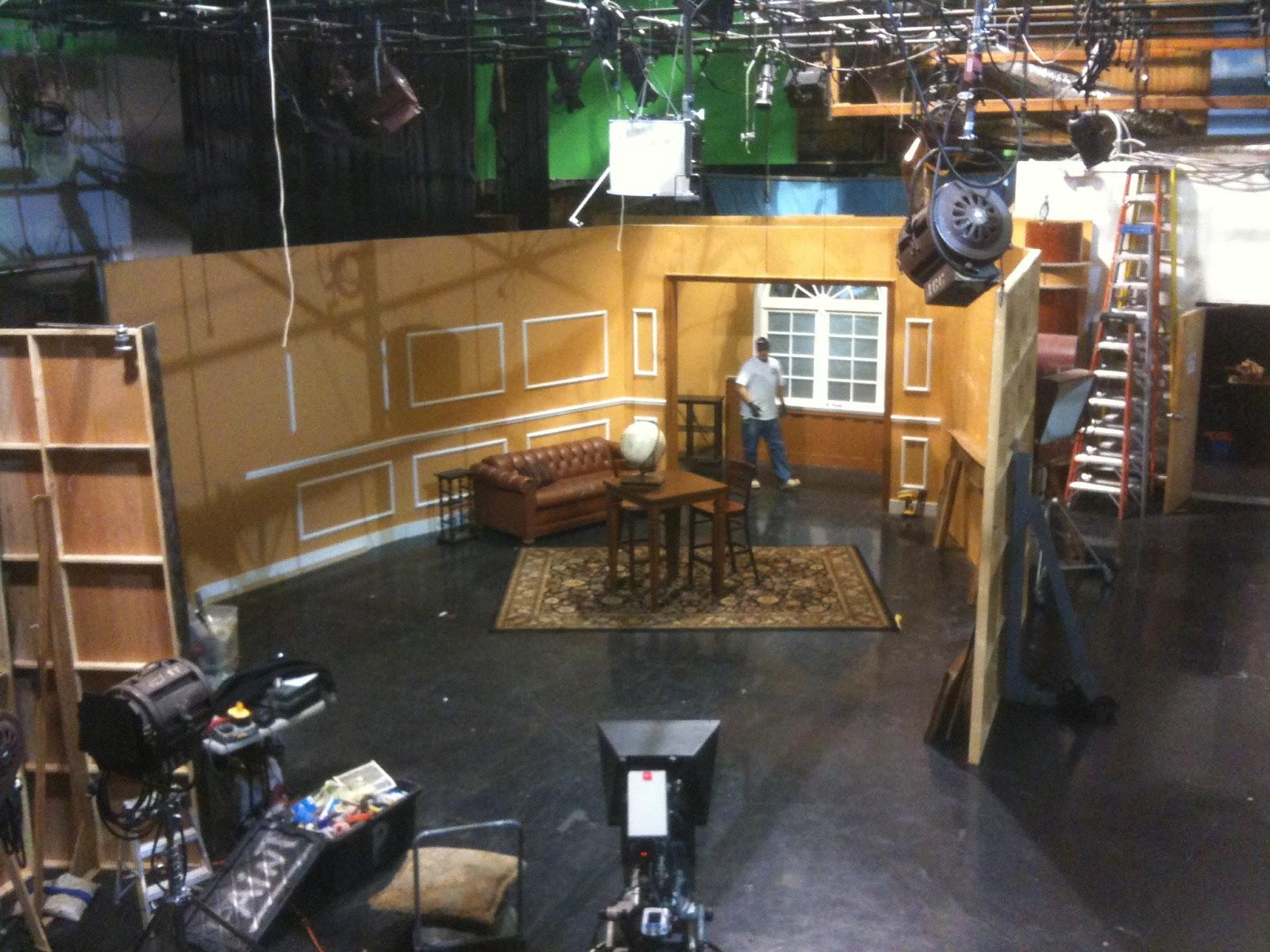 THB Construction TV Studio Set Reading Room for Commercial Shoot