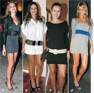 fotos e modelos de vestidos com cintos finos e largos