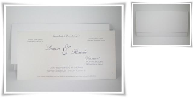 Casamento de Larissa e Ricardo, Modelo Joaquina Especial.