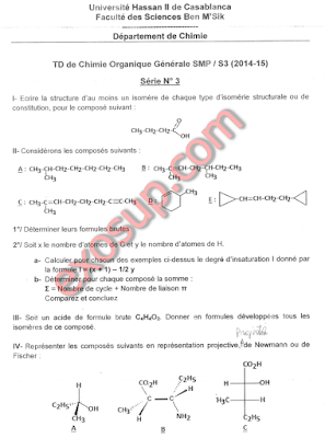 td 3 ben msik chimie organique smp s3