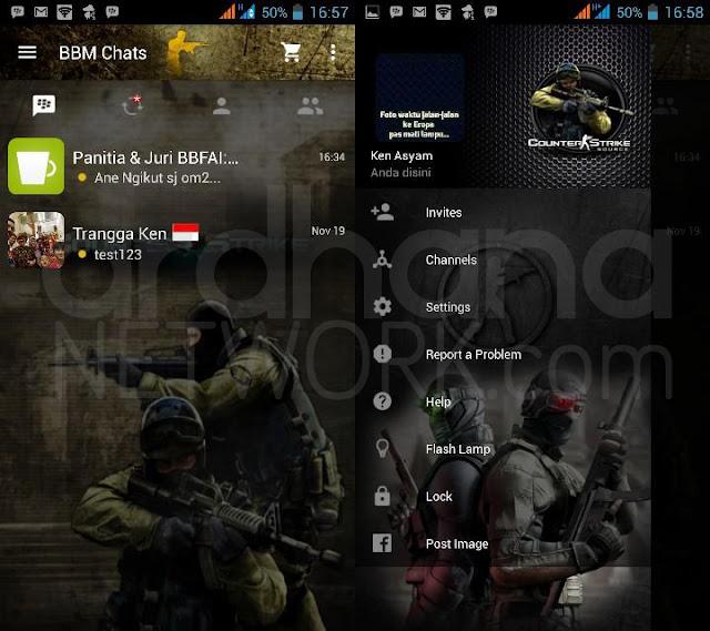 Preview BBM Counter Strike - BBM Android V2.10.0.35