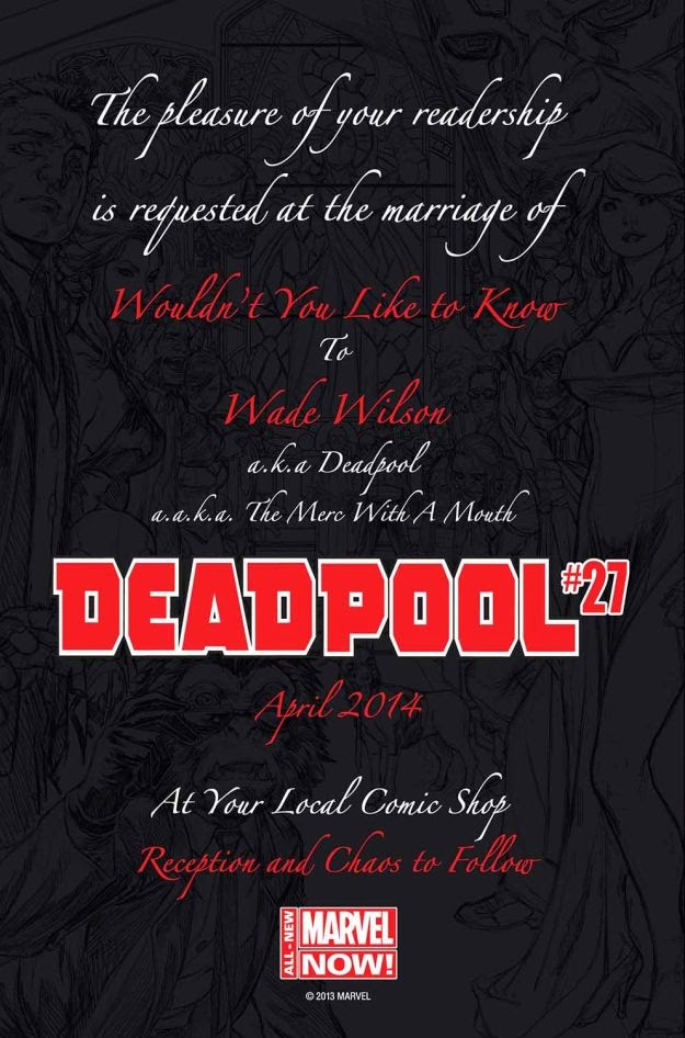 Deadpool to get Married in April