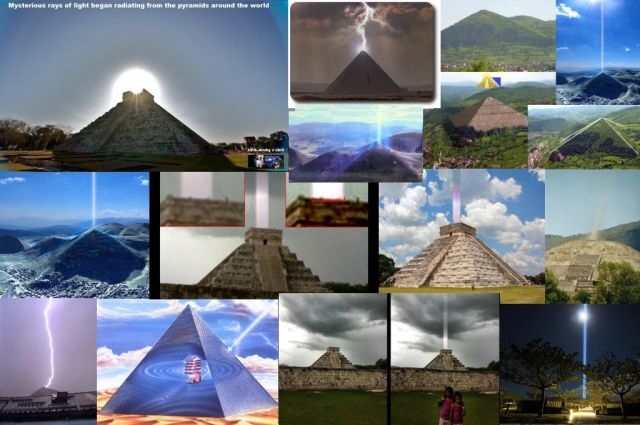 Mysterious Rays of Light Began Radiating From The Pyramids Around The World