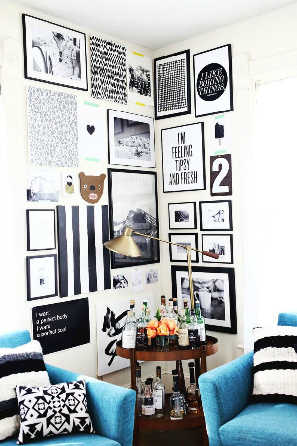 Gallery Wall Planner planning a corner gallery wall | drivendecor