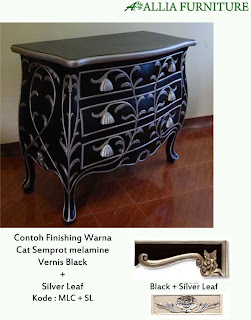 contoh furniture semprot melamine dan emas allia furniture