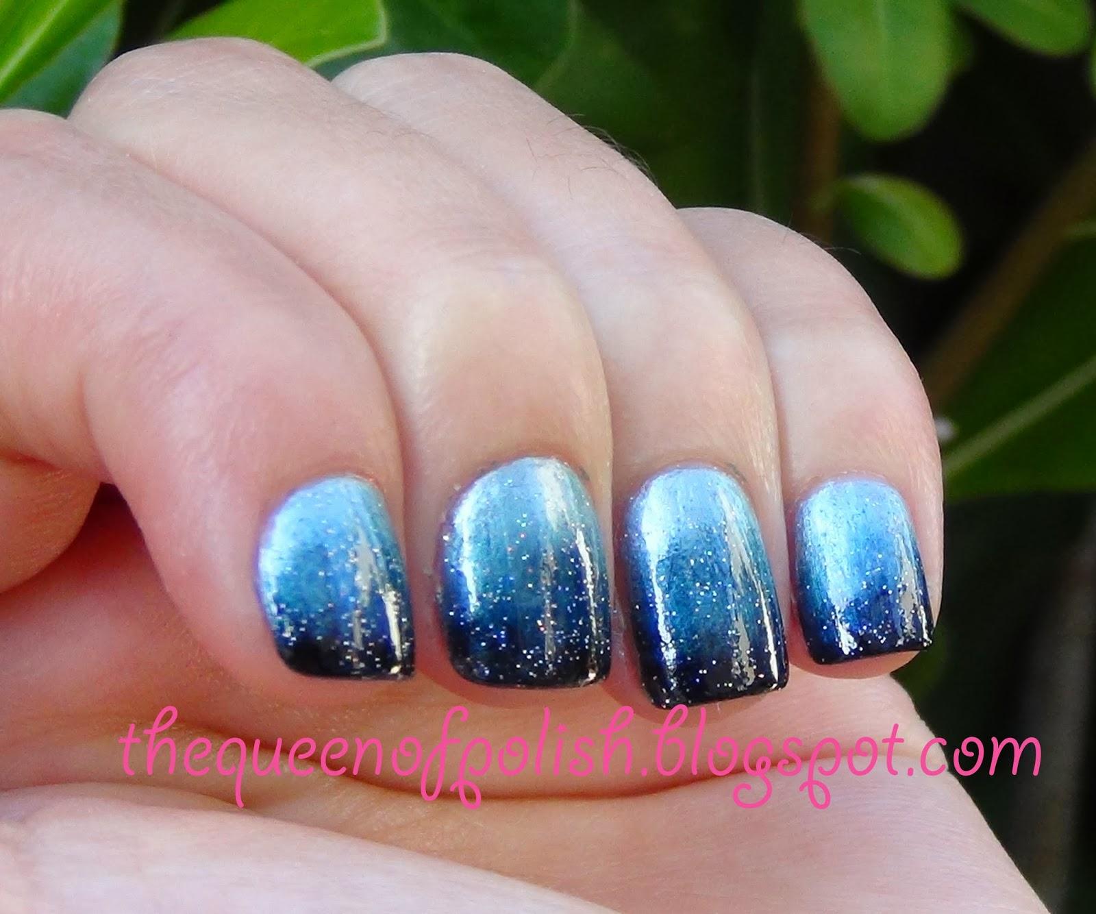 Queen Of Polish: Gradient Night Sky Nails