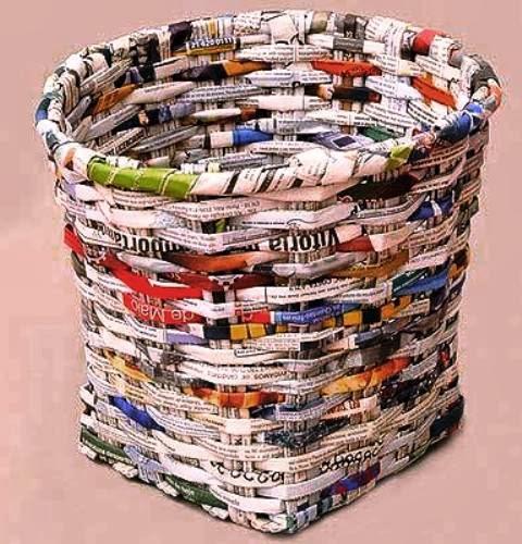 Tempat Sampah Dari Koran Bekas