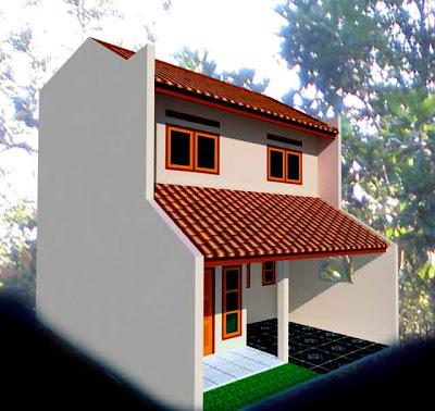 Gambar Desain Rumah Tampak Sudut 3D