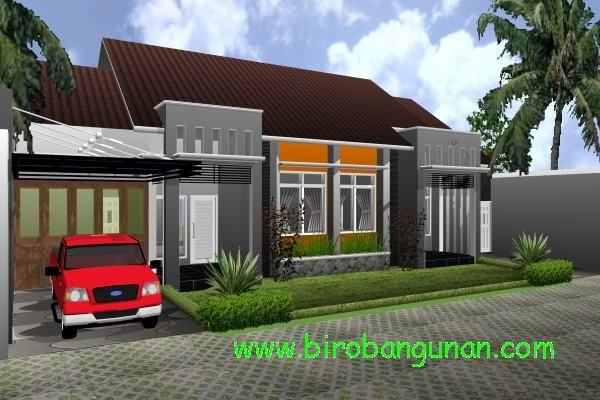 desain rumah bpk dhofir upaya merombak 2 kapling rumah