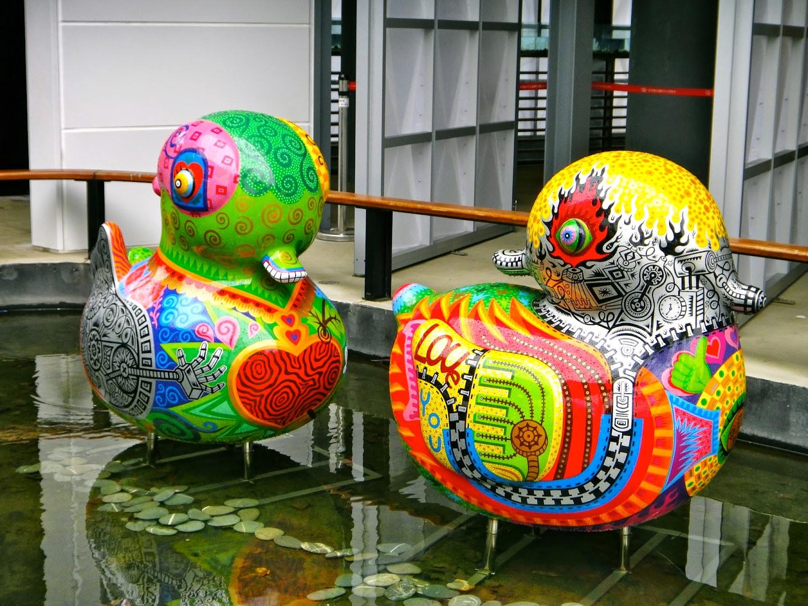 Bright Colors Ducks Taipei Expo Park