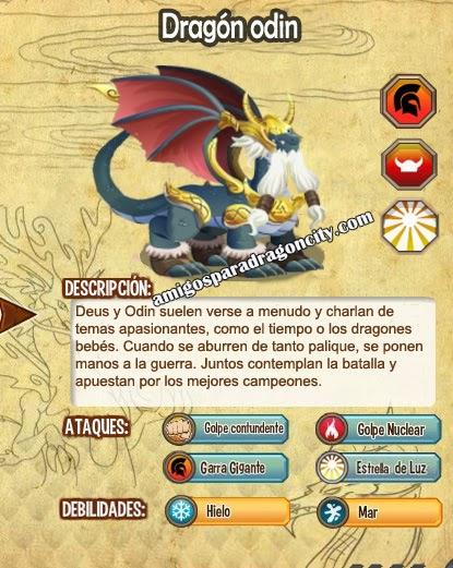 imagen del dragon odin y sus caracteristicas