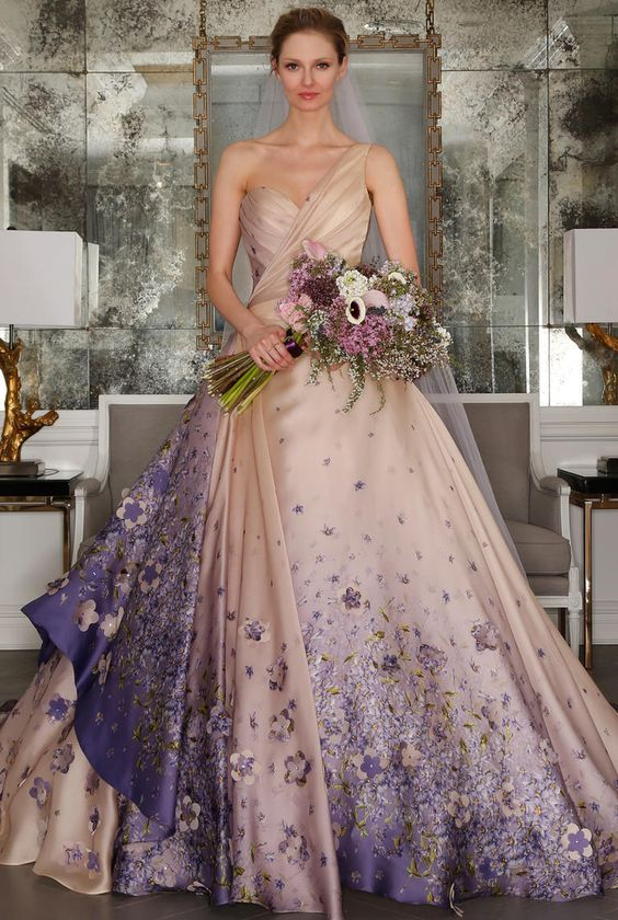 Awesome purple wedding dresses share junglespirit