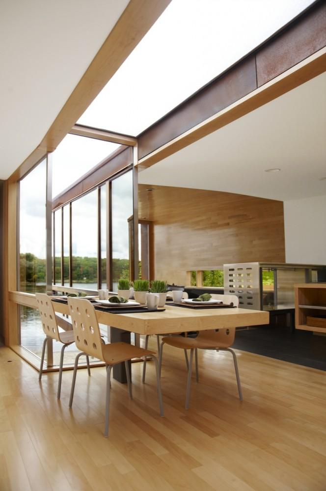 Kullman frame system modular house michigan modern for Modular a frame